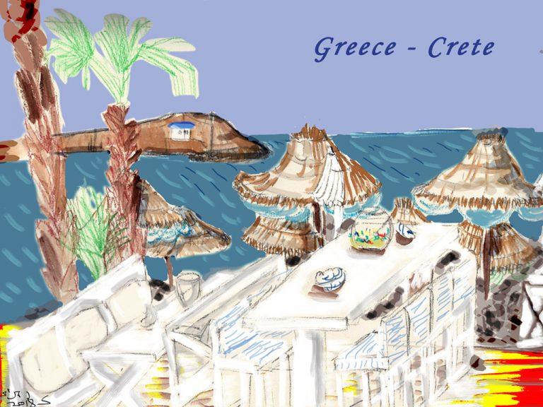 כרתים ביוון ציור