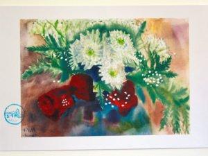 ורדים 01 הדפס על נייר כותנה