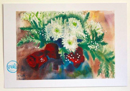 הדפס נייר כותנה ורדים 01