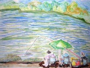 האגם בראשון לציון- ציור מקורי