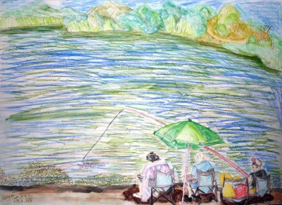 האגם בראשון לציון ציור מקורי