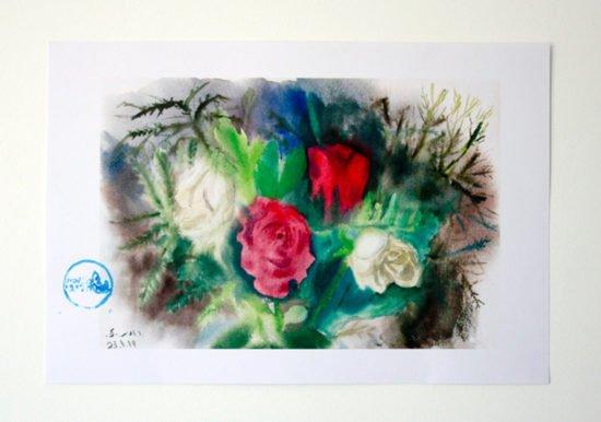 ורדים לבנים ואדומים
