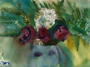 ורדים 03 הדפס על נייר כותנה
