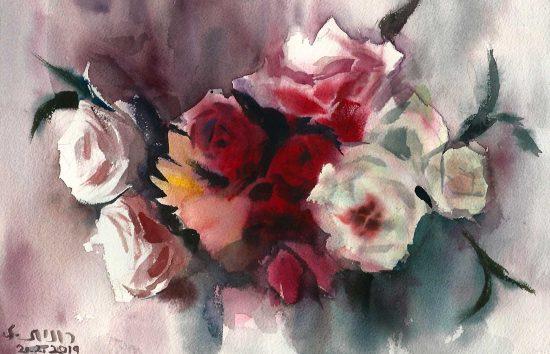 זר ורדים סימטרי