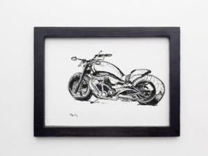 אופנוע הארלי מהצד