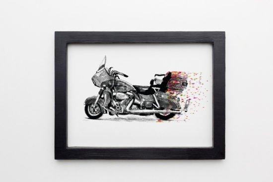 הדפס משי אופנוע קונפטי