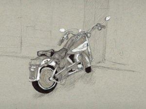 אופנוע תכלכל בתל אביב