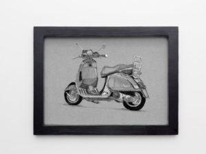 רישום של אופנוע ווספה