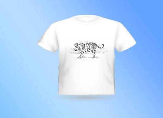 חולצה לבנה נמר בנגלי