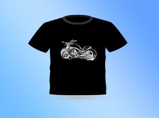 חולצה שחורה אופנוע