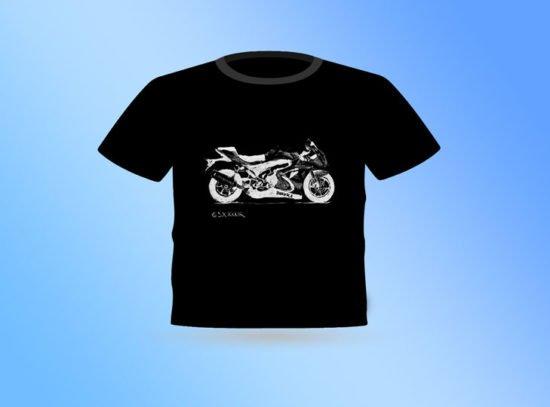 חולצה שחורה אופנוע סוזוקי