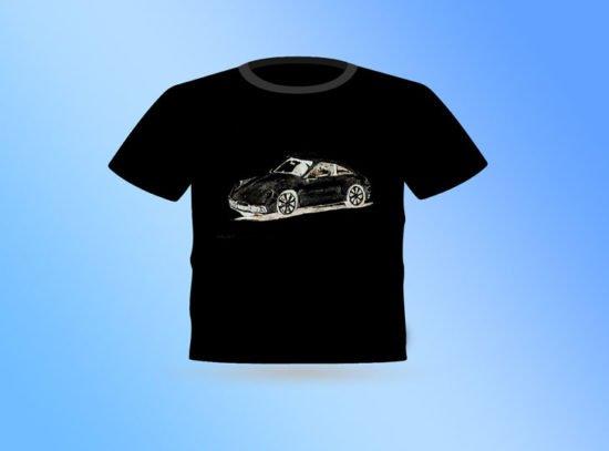 חולצה שחורה פורשה