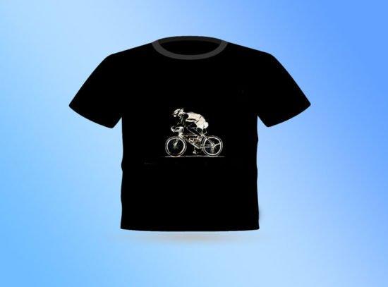 חולצה שחורה עם רוכב אופניים