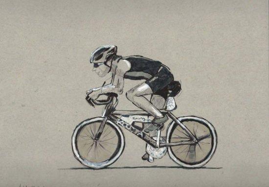 רישום של רוכב אופניים