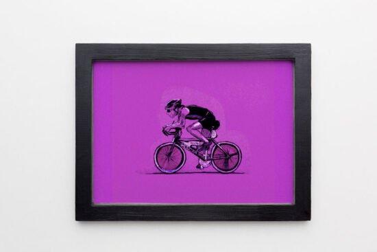רוכב נייר סגול