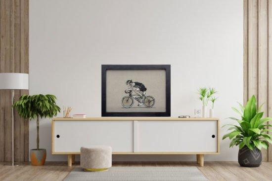 רוכב אופניים מוקאפ