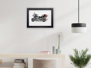 הדפס משי אופנוע הארלי דוידסון קונפטי