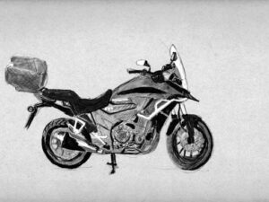 הדפס של אופנוע הונדה 500X