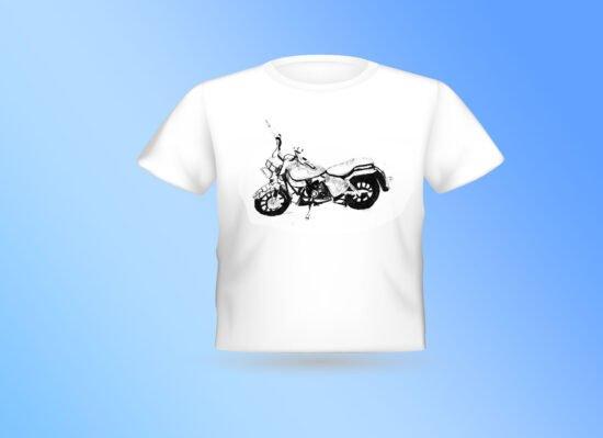 חולצה לבנה אופנוע 001
