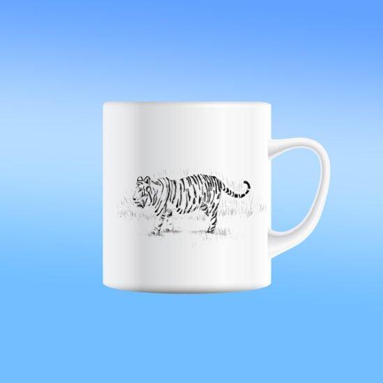 כוס קרמית נמר