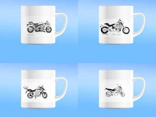 סט כוסות מאג אופנועים מס2