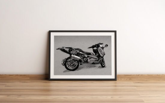 קטנוע כוורת ממוסגר