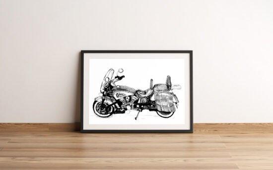 אופנוע אינדיאן לבן