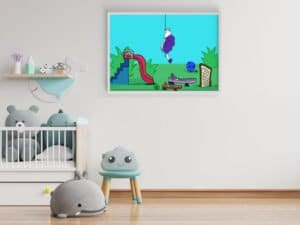 כלבלב תלוי על חוט – הדפס עם אנימציה במציאות רבודה!