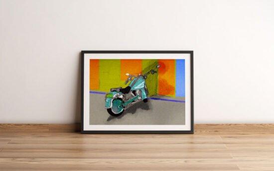 אופנוע תכלכל צבוע