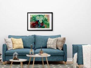 ורדים מס 1 הדפס אמנות מציור אקוורל מקורי