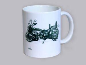 כוס מאוירת של אופנוע אינדיאן