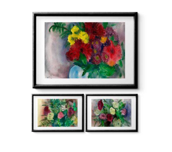 סט גרברות ורדים