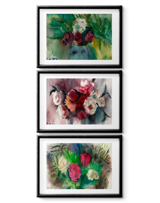 סט ורדים סימטרי