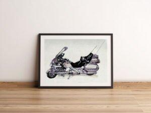הדפס של הונדה גולדווינג 1800GL רכב אספנות