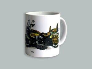 כוס מאוירת של אינדיאן סקאוט. הסדרה הצבעונית
