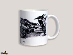 כוס מאוירת של קטנוע כוורת