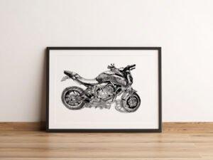 תמונה מרישום של אופנוע ימהה MT-07